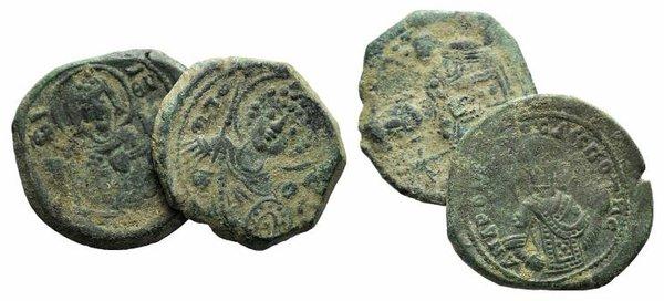 obverse: Lot of 2 Byzantine Æ Tetarterons