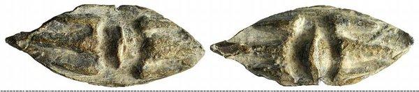obverse: Central Italy (?), c. 4th-3rd centuries BC. Æ Thunderbolt Sling-bullet