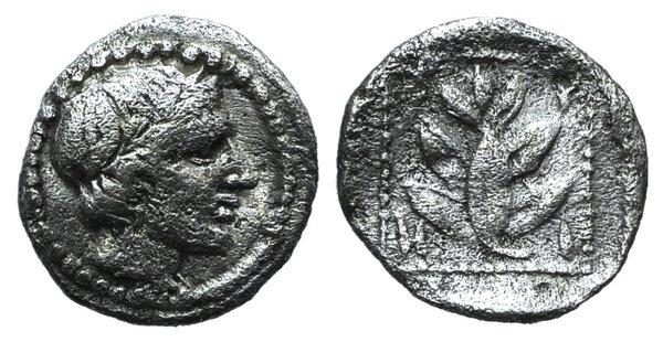 obverse: Thrace, Trieros, c. 450-420 BC. AR Hemiobol