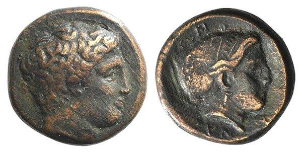 obverse: Thessaly, Phalanna, 3rd century BC. Æ Trichalkon