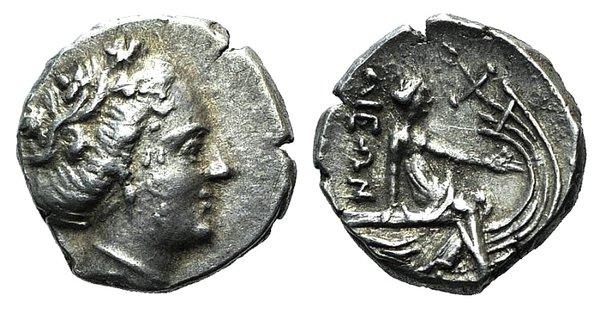 obverse: Euboia, Histiaia, 3rd-2nd centuries BC. AR Tetrobol
