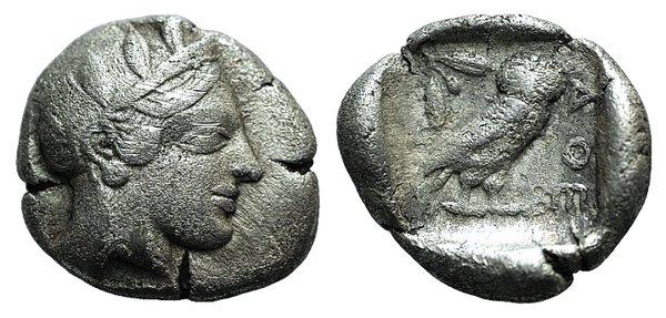 obverse: Attica, Athens, c. 454-404 BC. AR Drachm