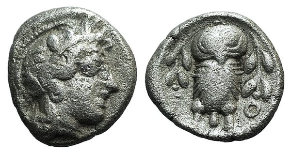 obverse: Attica, Athens, c. 454-404 BC. AR Triobol