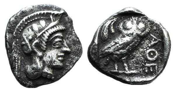 obverse: Attica, Athens, c. 454-404 BC. AR Obol