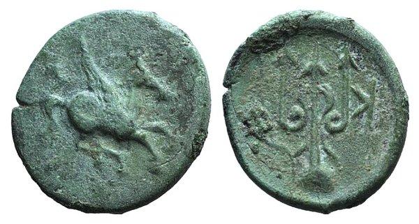 obverse: Corinth, c. 306-303 BC. Æ