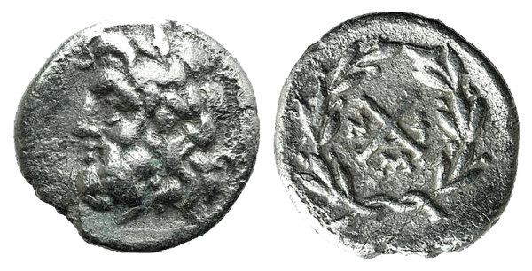 obverse: Achaian League, Messene, c. 175-168 BC. AR Hemidrachm