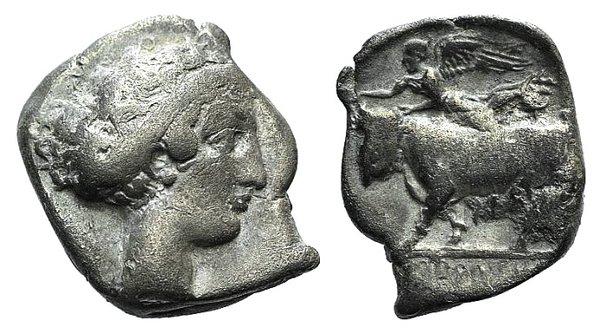 obverse: Campania, Neapolis, c. 395-385 BC. AR Stater
