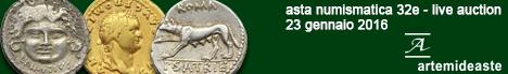 Banner Asta Artemide 32E - Monete da collezione