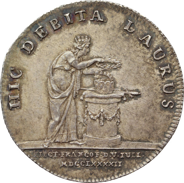 Reverse image of coin 818