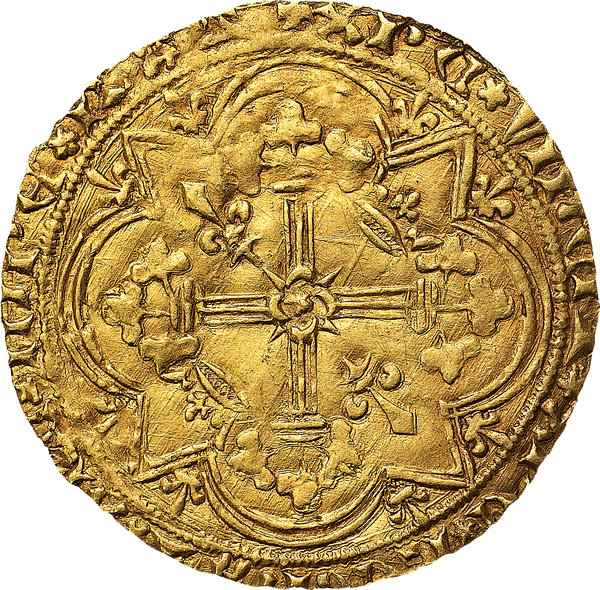 Reverse image of coin 828