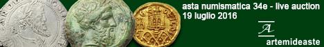 Banner Artemide Aste - Asta Numismatica 34E
