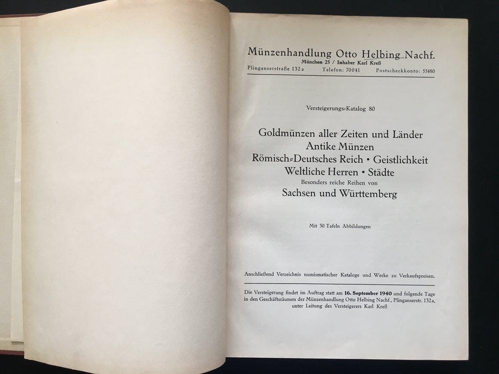 Artemide Aste Letteratura Numismatica 118 Helbing O Auktions