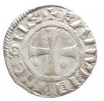 R/ Oriente Latino - Tripoli. Raimondo II 1137-1152 o Raimondo III 1152-1157. Denaro. Metcalf 510. Grammi 0,85. qSPL