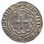 R/ Oriente Latino - Tripoli. Boemondo VII (1275-1287). Grosso. Malloy 26. AG. g. 4.25 SPL. Intonso con splendida patina