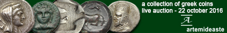 Banner Artemide Aste - A Collection of Greek Coins
