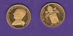 D/ VATICANO – Paolo VI (1963-1978) Medaglia in oro 1963 gr. 4 titolo 900 FDC