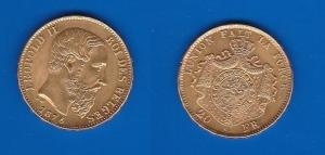 D/  BELGIO – Leopoldo II (1865-1909)20 Franchi 1876 KM 37 SPL/FDC