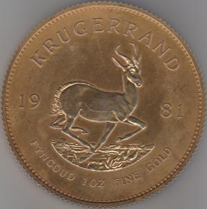 D/ DISPLAY da vetrina raffigurante un Krugerrand. Diametro cm 13. Metallo dorato. Ottimo anche come fermacarte (NON SI ACCETTANO RESI)