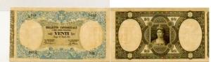D/  REGNO D'ITALIA - 20 lire Consorziali 30.04.1874 M Serie 243-9602 Biglietto non trattato/privo di pieghe Alcune macchioline gialle da umidità o da invecchiamento molto raro qFDS/FDS