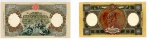 D/  REPUBBLICA ITALIANA - 5000 lire Rep. Marinare 27/10/1953 serie M-472-9609 molto rara Gavello 585 SUP+ insignificante macchiolina lato destro in' alto