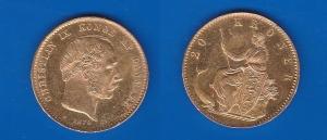 D/ DANIMARCA – Cristiano IX (1873-1906) 20 Kroner 1876 oro KM 791 SPL+