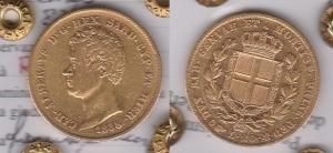 D/ ITALIA – Carlo Alberto (1831-1849) 20 Lire 1838 Torino Pagani 187 molto rara qSPL al R/ conio lucente periziata