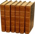 D/  COHEN Henry, Description historique des monnaies frappées sous l'Empire Romain. Prima edizione, opera completa di 6 volumi in pelle stampata a Londra tra il 1859 e il 1862 Molto raro
