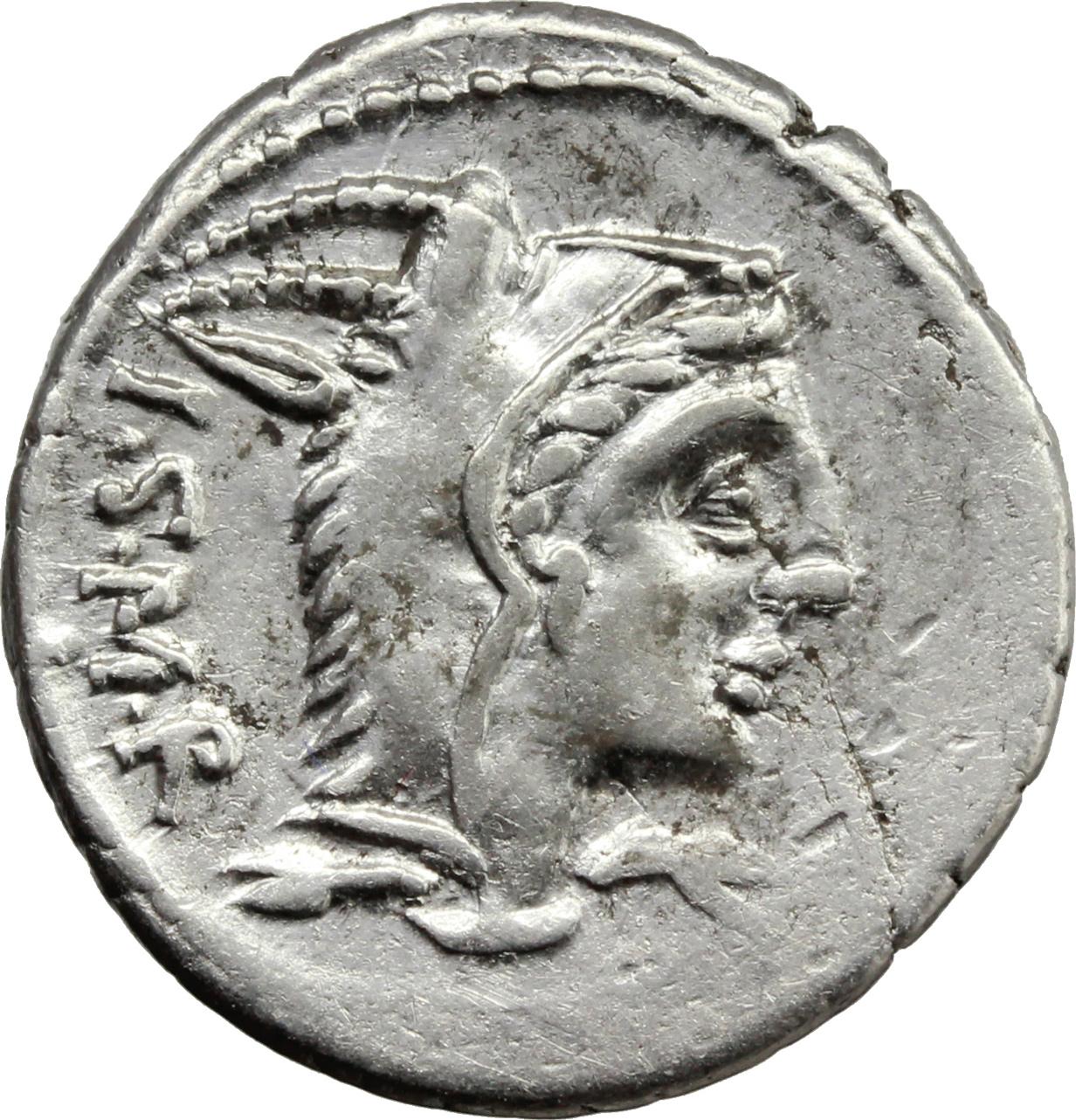 Lot 149 - L  Thorius Balbus  AR Brockage Denarius, 105 BC