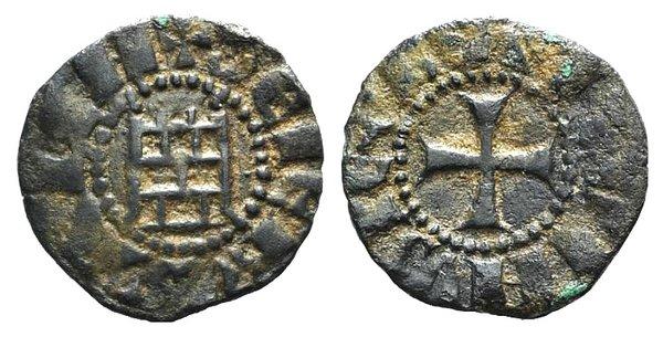 D/ Crusaders, Latin Kingdom of Jerusalem. Baldwin III (1143-1163). BI Denier (16mm, 1.14g, 12h). Cross pattée. R/ 'Tower of David'. Metcalf, Crusades 149; CCS 12. VF - Good VF