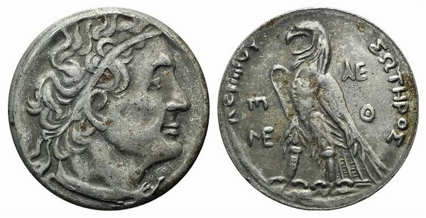 D/ Ptolemaic Kings of Egypt, Ptolemy II (285-246 BC). Fake Tetradrachm (24mm, 4.82g, 6h). Alexandria. Diademed bust r., wearing aegis. R/ Eagle standing l. on thunderbolt. Cf. SNG Copenhagen 474. Modern fake for study