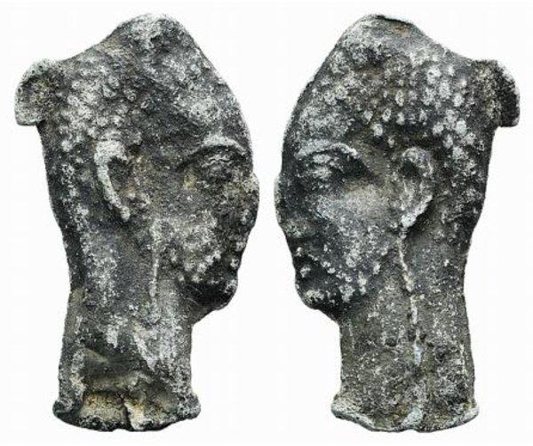 D/ Roman Lead Female Head, c. 1st-3rd century AD (55mm, 33.85g) lead female head