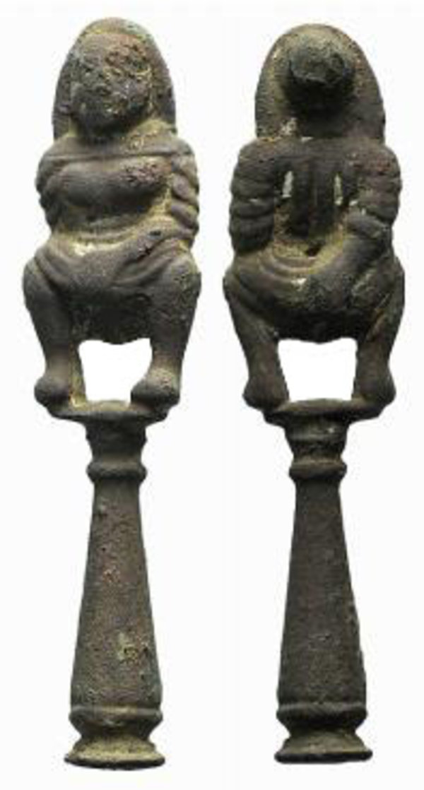D/ Modern Decorative Element, c. 16th-17th century, with female figure on capital.