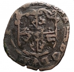 R/ Casa Savoia - Carlo Emanuele I 1580-1630. Soldo da 4 denari 1581. Mi. NC. Grammi 1,67. BB+.