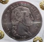 D/ Casa Savoia -Vittorio Emanuele I (1802-1821).5 lire 1820.Pag. 14.R.AG.Colpetti. BB+