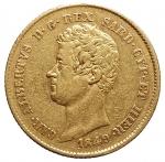 D/ Casa Savoia - Carlo Alberto (1831-1849).20 lire 1849 G.Pag. 208.AU.BB+/BB++. Metallo parzialmente lucente