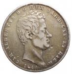 D/ Casa Savoia - Regno di Sardegna.Carlo Alberto (1831-1849).5 lire 1844 Genova.Pag. 255.AG.qBB.