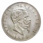 D/ Casa Savoia - Vittorio Emanuele II. 5 Lire 1875 Roma. Ag. NC. Migliore di SPL