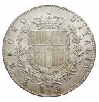 R/ Casa Savoia - Vittorio Emanuele II. 5 Lire 1875 Roma. Ag. NC. Migliore di SPL