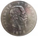 D/ Casa Savoia - Vittorio Emanuele II (1861-1878).5 lire 1876 Roma.AG.Gig 51. BB/BB+. Parti scure
