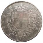R/ Casa Savoia - Vittorio Emanuele II (1861-1878).5 lire 1876 Roma.AG.Gig 51. BB/BB+. Parti scure