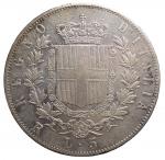 R/ Casa Savoia -Vittorio Emanuele II (1861-1878).5 lire 1878 R.Pag. 503.AG.BB/SPL. Leggera patina in parte iridescente su fondi lucenti
