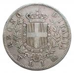 D/ Casa Savoia -Vittorio Emanuele II (1861-1878). 1 lira 1863 Torino. Stemma. Gig 65.AG. BB+/BB-SPL. Non comune. Patina