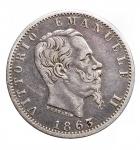 R/ Casa Savoia - Vittorio Emanuele II. 1861-1878.20 Centesimi 1863 Torino Valore. Ag. Gig. 85. BB++. Patina