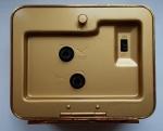 R/ Orologi - Lorenz. Sveglia al quarzo. Quadrante argentato. Cassa ottone. Resto di magazzeno. Larghezza mm 88. Altezza mm 75. Grammi 405 . Nuova. Funzionante. Con scatola