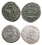 R/ Lotti - Insieme di 4 esemplari. n 2 denari in Ag + n 2 piccoli bronzi in Ae.