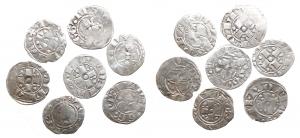 D/ Zecche Italiane - Roma XIV-XV Sec. Bolognino Romano. AR. Lotto di 7 esemplari