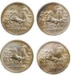 D/ Lotti - Casa Savoia -Vittorio Emanuele III (1900-1943).Serie 2 lire 1914-1915-1916-1917.Pag. 737,738,739 e 740.AG. SPL-FDC. Ottima conservazione di tutti i pezzi
