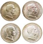 R/ Lotti - Casa Savoia -Vittorio Emanuele III (1900-1943).Serie 2 lire 1914-1915-1916-1917.Pag. 737,738,739 e 740.AG. SPL-FDC. Ottima conservazione di tutti i pezzi