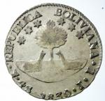 D/ Monete Estere. Bolivia. Repubblica. 1825-. 4 soles 1830 JL. AG.KM 96a.1. qFDC.x