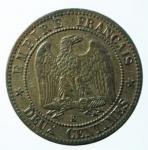 R/ Monete Estere. Francia. Napoleone III. 1852- 1870. 5 centesimi 1862 K. AE.KM 19.6. SPL.x